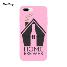 Glaze Candy Color Ultra-thin Covers For Iphone 6/6s/6plus/6s Plus Home Brewer CRAFT BEER For Iphone 7/7plus Case(China)