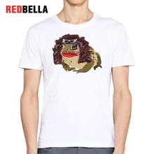 REDBELLA 3D Tshirt Men Spoof Graphic Printed Cartoon Movie Tee Shirt Homme 100% Cotton White Casual Hipster Fashion Autumn 2017(China)