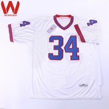 WENWUBIN Mens #34 Thurman Thomas Embroidered Throwback Football Jersey