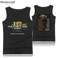 U2 Logo Summer Vest Tank Top Mens Bodybuilding And Plus Size Rocky Band U2 Exercise Workout Tank Tops Mens Clothes Xxs - 4xl