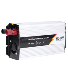 600W Car Power Converter Charger Adapter DC 12V to AC 220V UK Plug Modified Sine Wave Power Inverter Household(China)