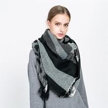 VBIGER Oversized Winter Scarf Warm Pashmina Thickened Wrap Shawl for Women Tassels Design Leopard Print(China)