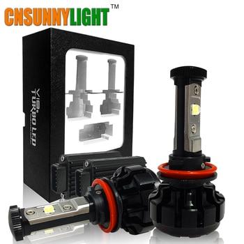 CNSUNNYLIGHT 10000LM LED Super Brillante de Coches Faros Kit H7 H11/H8/H9/9005/HB3 9006/HB4 9012 Reemplace la Bombilla w/Anti-Deslumbramiento de Haz