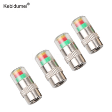 ebidumei 4PCS Car Tyre Tire Pressure Monitor Valve Stem Caps 2.4 Bar Sensor Indicator Alert Diagnostic Tools Kits Car Styling(China)