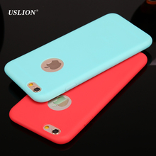 USLION Fashion Candy Color Ultrathin Phone Case For iPhone 7 6 6s Plus 5 5s SE Soft TPU Cases Back Cover Coque For iPhone7 Plus