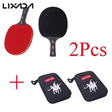 Top Quality Table Tennis Racket Ping Pong Paddle Bat Case Bag Table Tennis Rackets Paddle Holder Horizontal Grip Rubber Bats