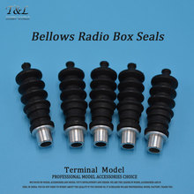 1PC RC Boat Aluminium fittings and Rubber Bellows Radio Box Seals Ideal For Servo Push Rod Seal To Rudder(China)