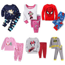 Christmas 2pcs Pajama SetsBaby Boy Girl Minnie Sleepwear Pajamas Set Kids Pyjamas Clothes 9 style