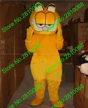 Can be washed with water High quality EVA Material Helmet Garfield Mascot Costumes walking cartoon Apparel Birthday party 063