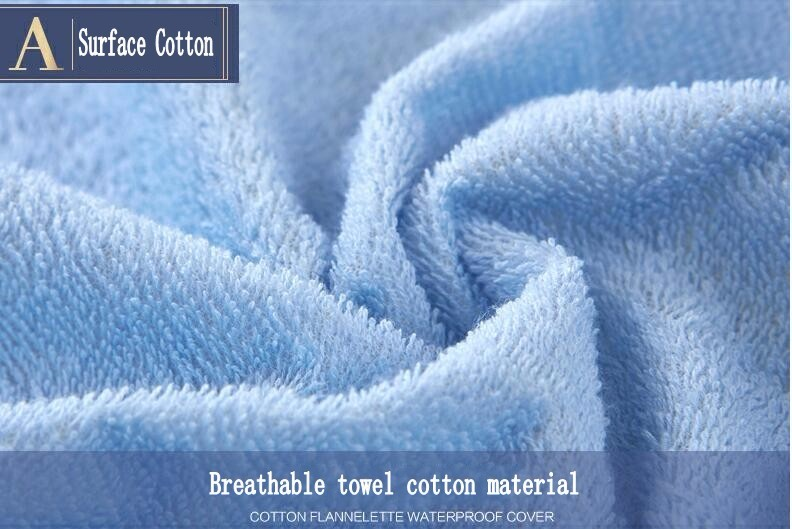 The surface of the mattress cover is breathable towel cotton material