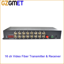 GZGMET 20km BNC  16 CHANEL Optical Media Converter WITH Transmitter Receiver Video Audio Date  Single Mode