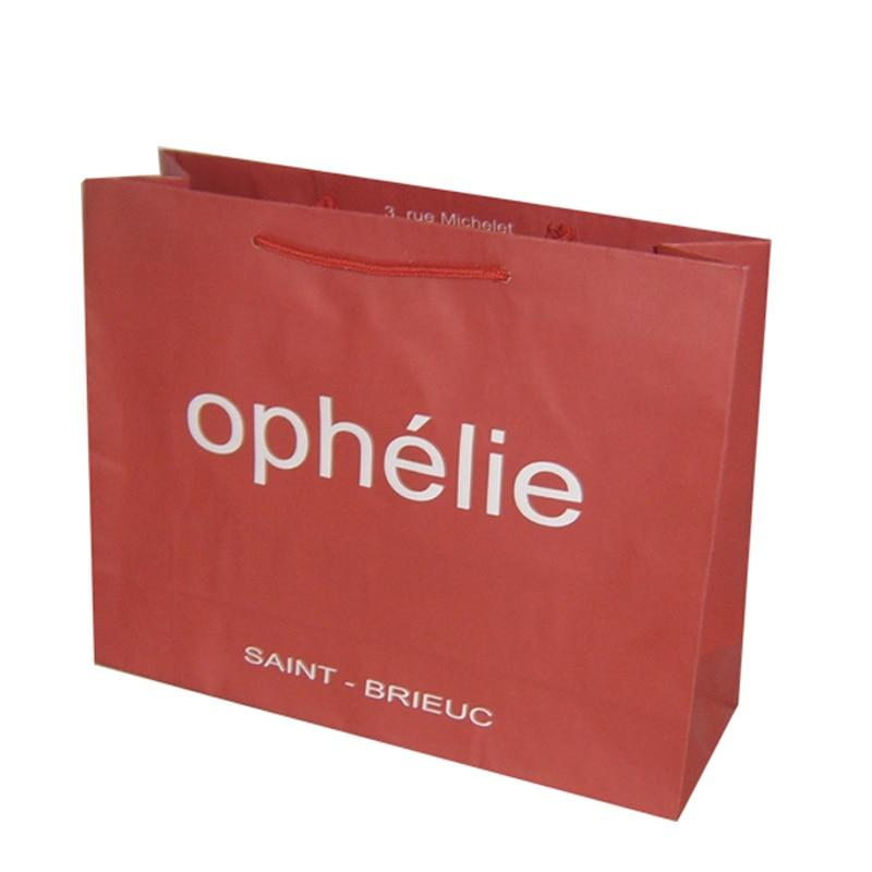 Red kraft paper bag