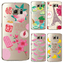 S6edge+ Soft TPU Cover For Samsung Galaxy S6 edge Plus Case Phone Shell Cases Balloon Flowers Artistic Eyes Cactus Best Choice
