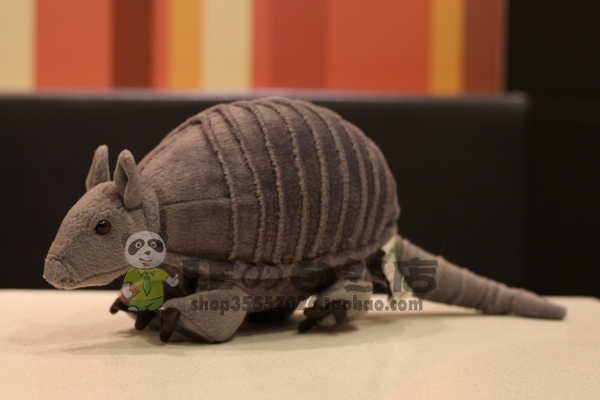 Plush Toy  Nine-Banded Armadillo Doll Stuffed Kids Toys  Simulation Wild Animal  Doll<br>