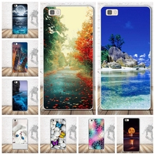 Soft TPU Case For Coque Huawei P8 LITE Case Silicon Back Cover For Funda Huawei Ascend P8 Lite Case 3D Relief phone bags Capa