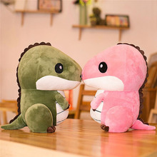 Hot sale 2 Colors Cartoon Plush Toy Dinosaur Toy Cute Stuffed Soft Doll Baby Kids Plush Toys for Kids Birthday Christmas