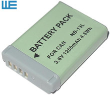 NB-13L, NB13L 13L Battery for Canon PowerShot G5 X G5X G7 X G7X G7 X Mark II G9 X G9X Mark II SX620, SX720.(China)