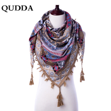 QUDDA 2018 New Autumn Winter 110*110cm Large Square Scarves New Female Elegant Silk Scarf Fashion Ladies Accessories Bufandas(China)