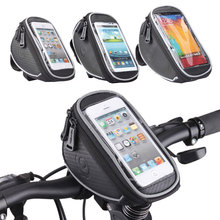 "4.2"" 5"" 5.5"" ROSWHEEL Touchscreen Bicycle Phone Case Cycling Top Tube Bag Panniers Mountain Bike Handlebar Bycicle Bag Pouch"