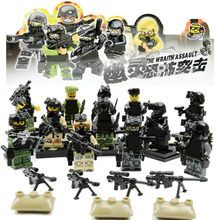 12pcs Armed Force Mini SWAT The Wraith Assault figure Armas Ghost Commando Action Figure Building Block Toy Compatible with Lego