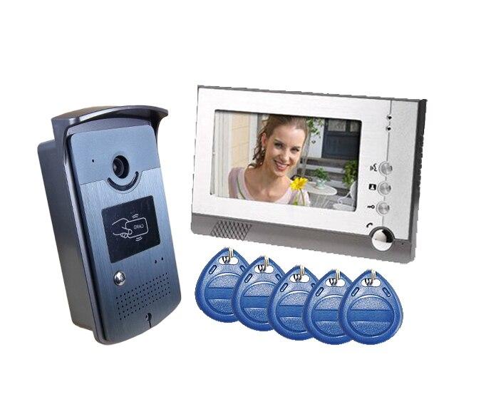 freeship 7  RFID Card Reader HD Doorbell 1000TVL Camera<br><br>Aliexpress