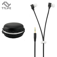 TTLIFE Fashion Cute Style Earphones 3.5mm Aux Heavy Bass Earpiece Macarons Design Earphone For Xiaomi Samsung  MP3 Earbuds