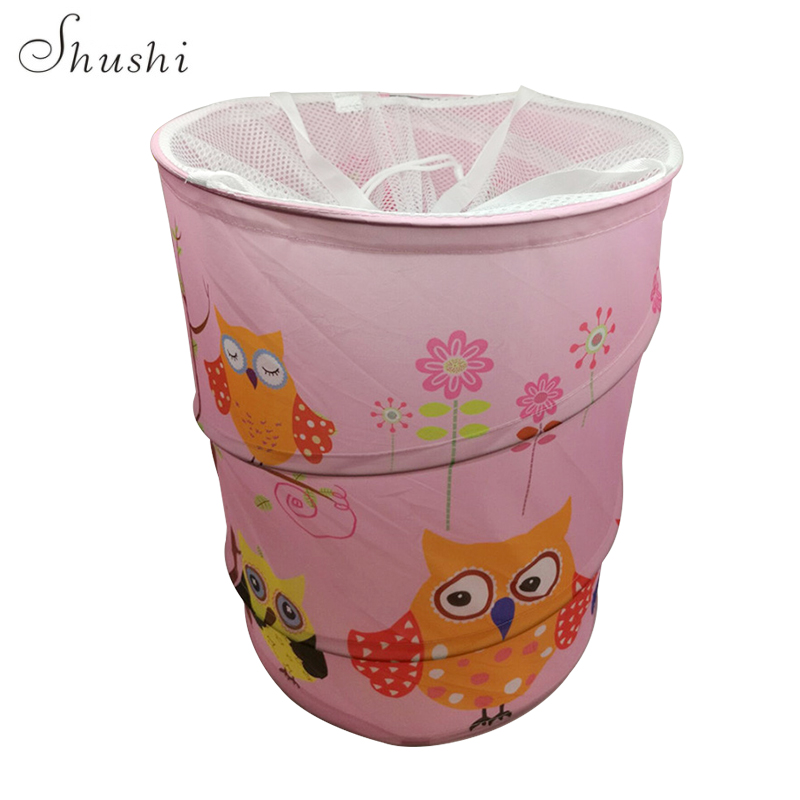 2017 new digital printing drum bucket laundry sale discount price dirty clothes Store Storage bag hot sale(China)