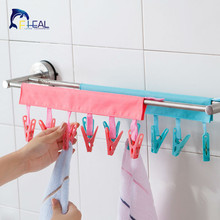 FHEAL Portable Socks Drying Cloth Hanger Rack Clothespin Business Travel Portable Folding Cloth Hanger Clips(China)