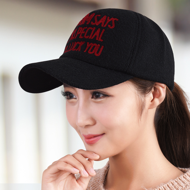 female warm winter visor woolen hat female baseball cap embroidery womens cap knitted hat casual hat autumn and winter sun hat <br><br>Aliexpress