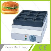 Electric Non-stick Commercial Pancake Maker Baker Machine;Electric 9 holes egg hamburger processing machine