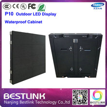960*960mm led waterproof cabinet outdoor led screen with full color p10 dip led module 4 scan for led video screen led billboard
