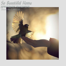 5D Hot Diamond painting needlework Cross Stitch Square diamond embroidery Mosaic picture Bird on hand SH61103(China)