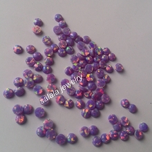200pcs/lot Free Shipping 3mm OP38 Multi Lav Fire Cabochon Fire Opal Synthetic Fire Round Cabochon Opal Synthetic Opal Cabochon