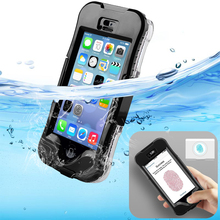 Top IP68 Water/Dirt/Shock Proof Phone Bag Cover Case For iPhone SE 5 5S Full Coverage Waterproof Shockproof Fingerprint Scanner