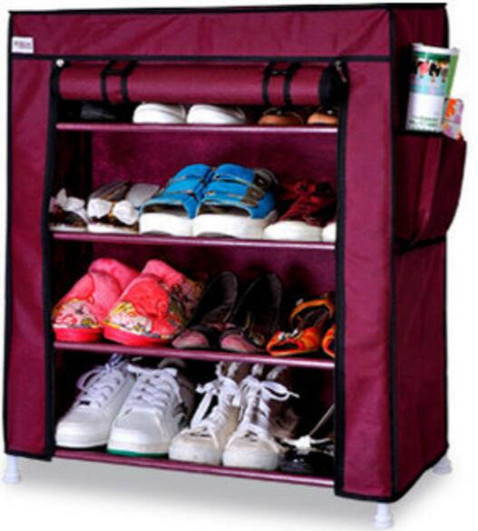 77*60*30CM Four layers Nonwovens Shoe Cabinets Oxford cloth Shoe rack<br>