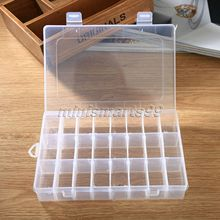 24Grid Adjustable Plastic Storage Box Earring Jewelry Bin Container Case Makeup Organizer Store Small Items Assortment Beads Box(China)