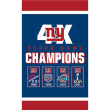 Hanging New York Giants Flag Banners Football Team Flags 3x5 Ft Super Bowl World Champions Banner Decoration 100D Polyester(China)