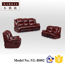 Italian design living room funiture leather recliner sofa set