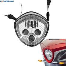 Driving Light 1PCS Chromed/black LED Headlight Kit with high low beam for Victory Cross Country