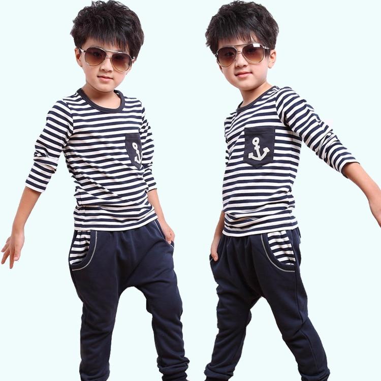 Childrens clothing male child set autumn 2013 baby autumn child set male child stripe kids clothes<br>