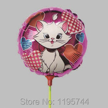 20Pcs/Lot, Free Shipping, 8.5 Inch Mary Cat Balloon Stick, Helium Balloons, Baby Shower, Party/Birthday/Wedding Decorations.