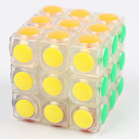 Transparent Magic Cube 3x3x3 Speed Puzzle Cube Game Dot Shape  Professional Puzzle Game Toys Gifts