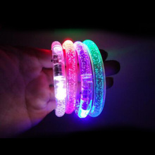 3PCS Fashion Flashing Bracelet Wrist Band Happy Luminous Hand Ring Led Bracelet Children Party Toy Glow Bangle