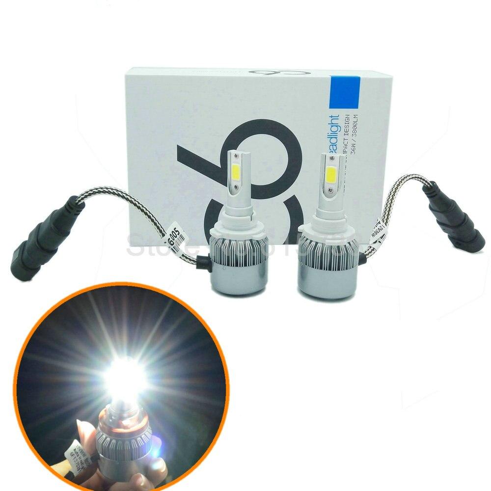 2pcs 9006 hb4 36W 7600Lm Car Headlights motorcycle headlamp Car Light Source parking Fog Lights replace for halogen h7 h8 h11 h1<br><br>Aliexpress