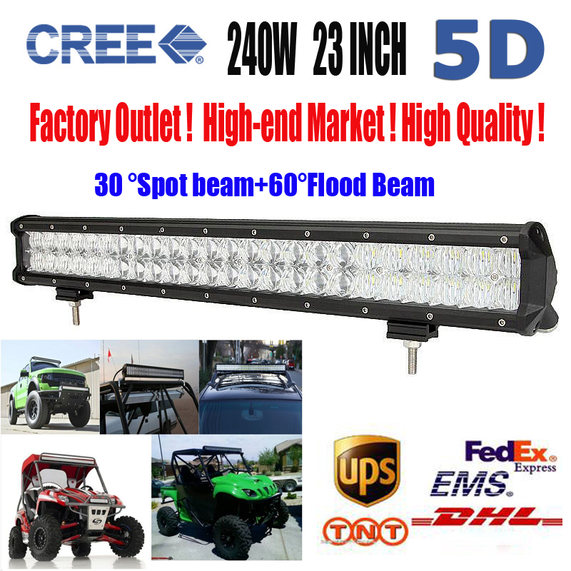 23 Inch 240W 5D Cree Chips LED Work Light Bar Combo Car External Lights Off-road Driving Lamp Truck Boat Trailer Lamps ATV SUV<br><br>Aliexpress