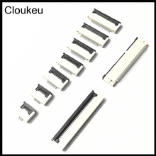 Cloukeu 10Pcs FPC Connector cable socket 0.5MM Clamshell Bottom Contact Type 40Pin 30P 32P 34P 36P 40P 45P 50P 54P 60P