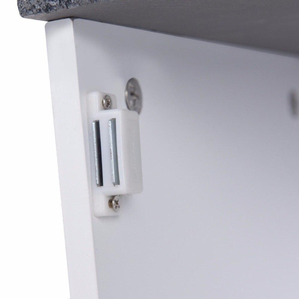Giantex Bathroom Floor Storage Cabinet Freestanding Adjustable Shelves W/Single Door NEW Modern Bathroom Furniture HW57076 11