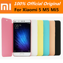 100% Offical Original Mi5 M5 Smart Leather Case Protective PU Flip protector Cover with Wake up For Xiaomi 5 mi5 M5