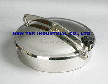 SS316 400mm Heavy duty Round Manway, Non-Pressure, Tank Manhole in Food Grade