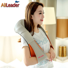 Non-Toxic No Odor Pu Leader Electric Massage Pillow Car Home Use Shiatsu Back Massager Machine For Pain Relief